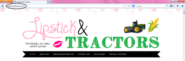 Officially lipstickandtractors.com!